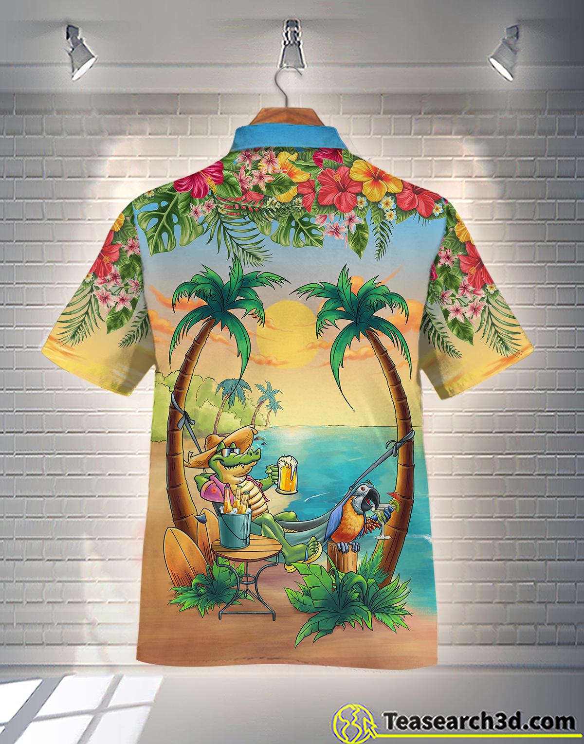 Crocodile On the Beach Hawaiian Shirt 1