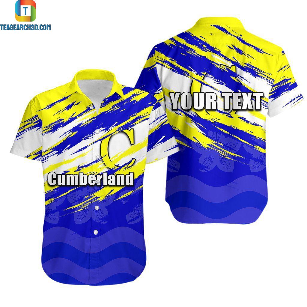 Cumbria rugby league personalized hawaiian shirt