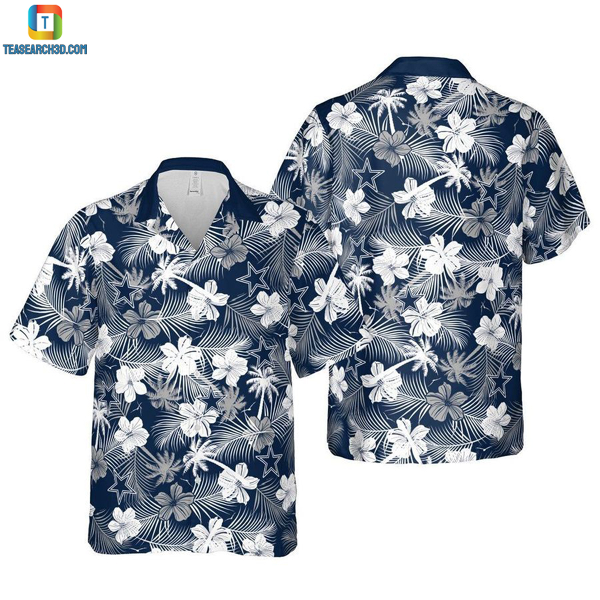 Dallas cowboys fort worth nfl football hawaiian shirt 2