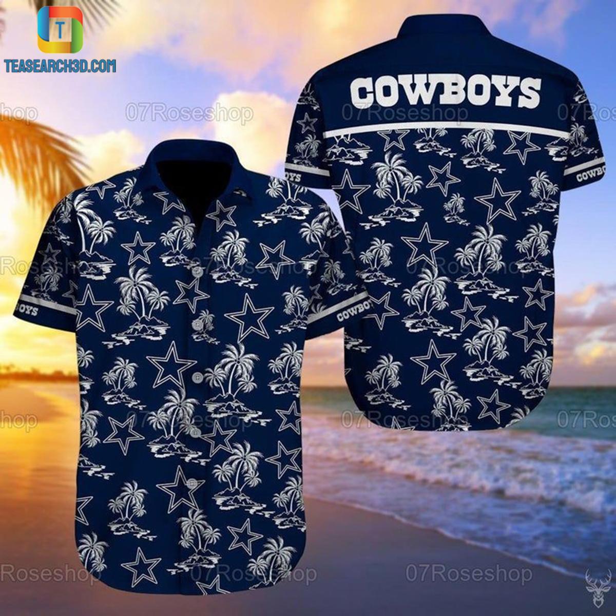 Dallas cowboys summer vacation nfl football hawaiian shirt 2