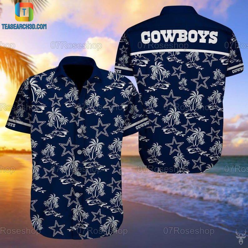 Dallas cowboys summer vacation nfl football hawaiian shirt