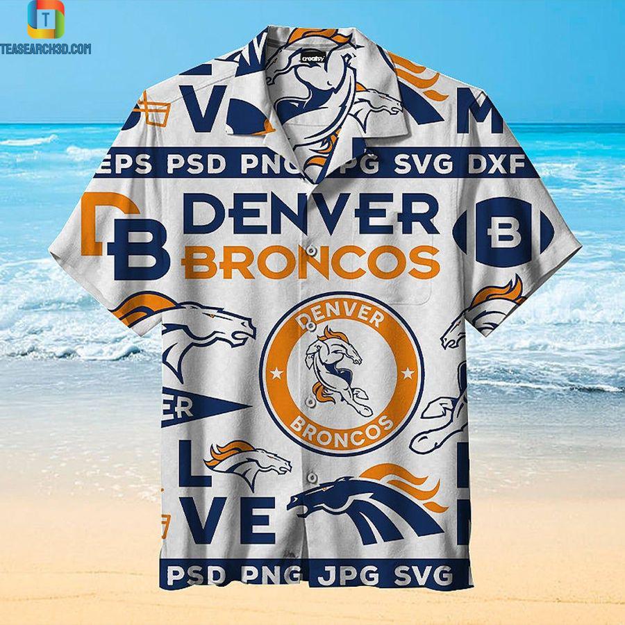 Denver broncos nfl football hawaiian shirt