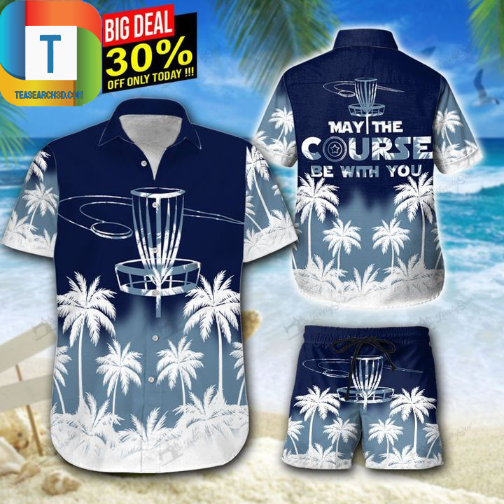 Disc golf may the course be with you hawaiian shirt, beach short