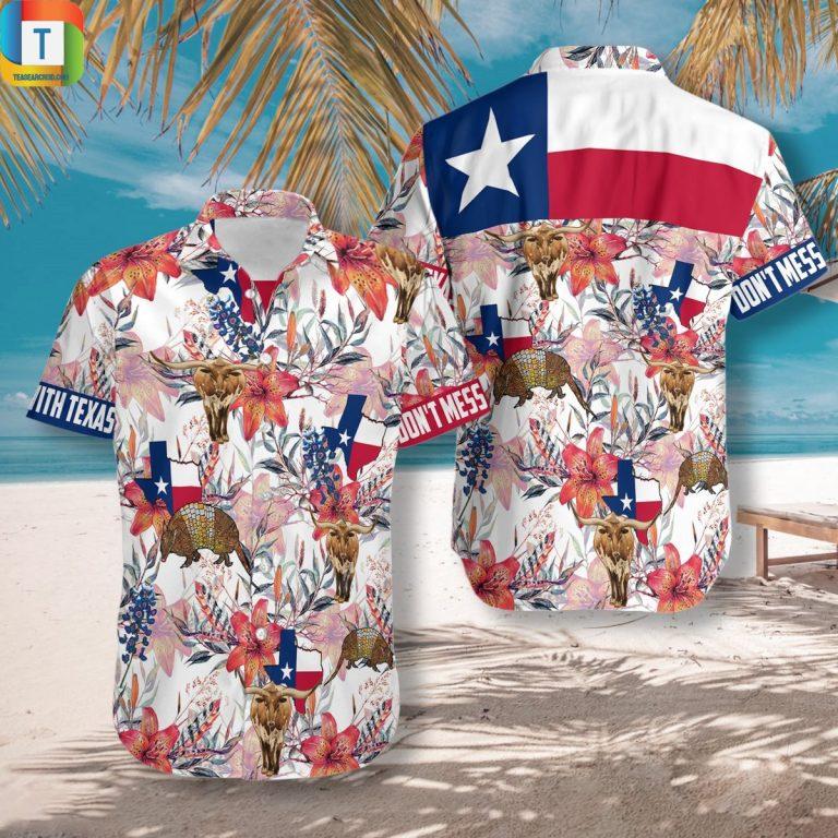 Don't mess with texas hawaiian shirt beach short 1