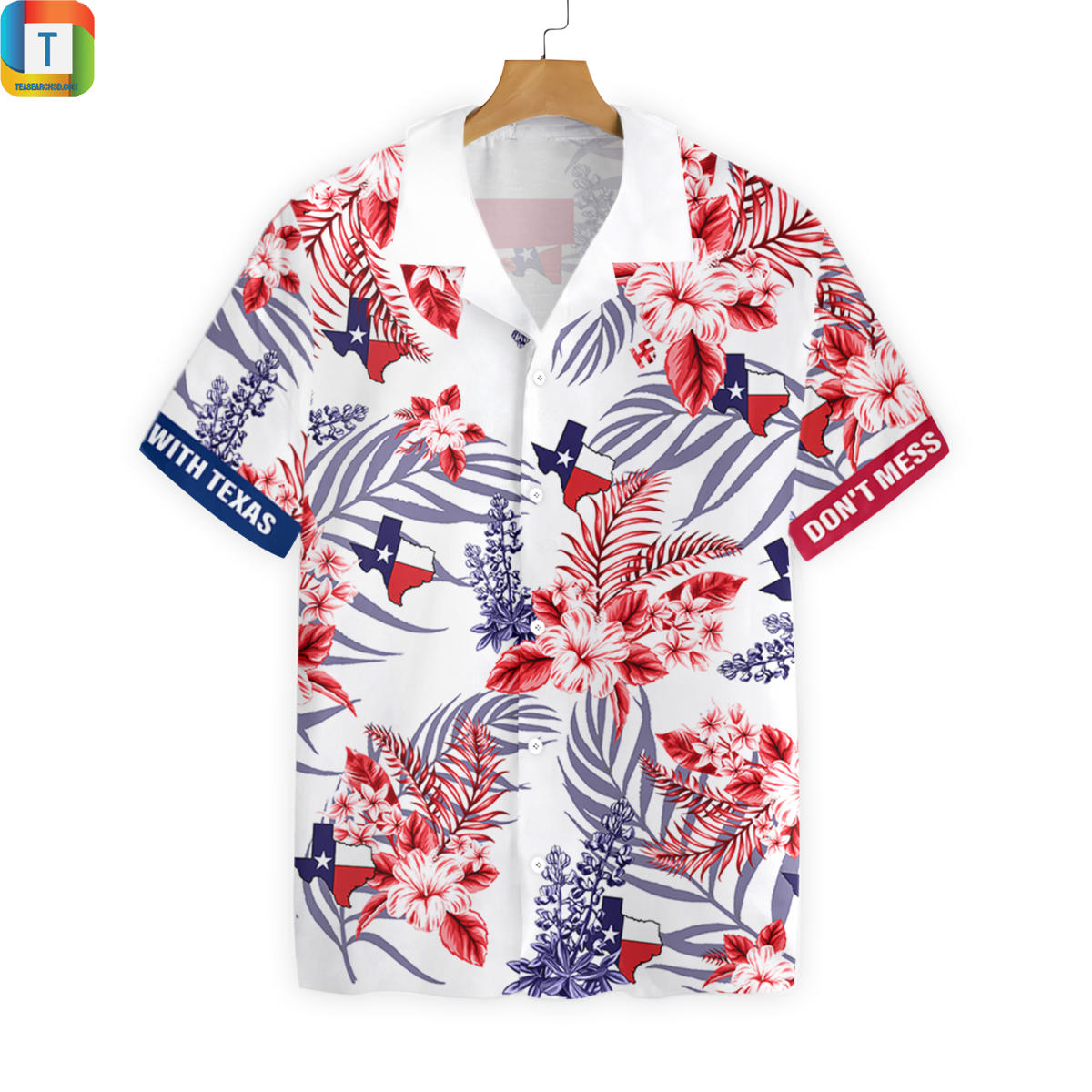Don't mess with texas styles 2 hawaiian shirt beach short 1
