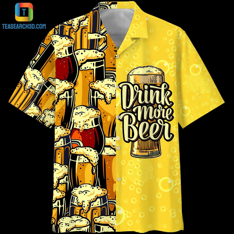 Drink more beer hawaiian shirt 1