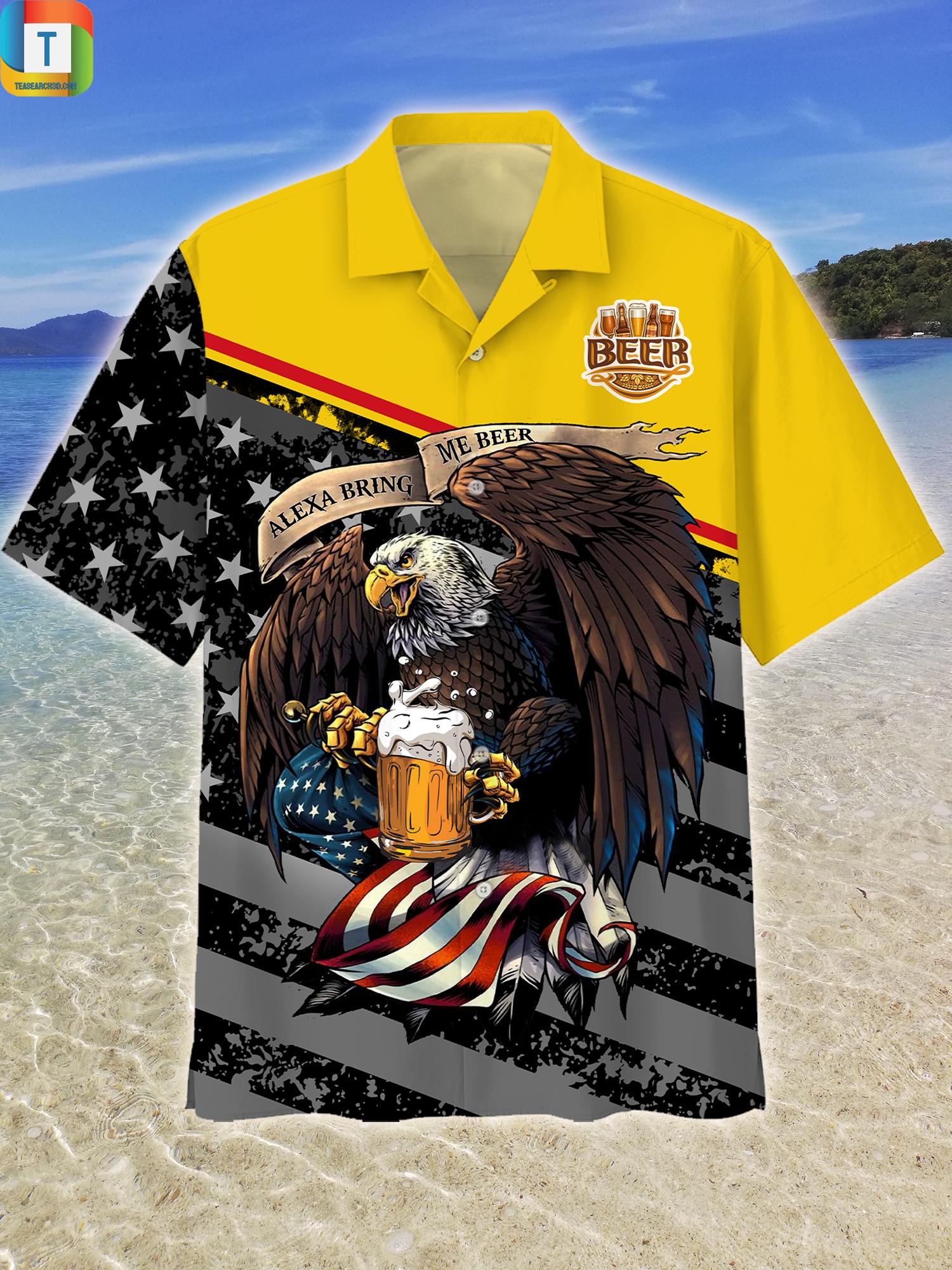 Eagles Alexa Bring Me Beer Hawaiian Shirt Beach Short 1