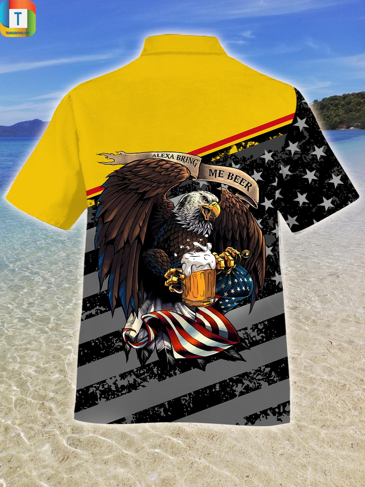Eagles Alexa Bring Me Beer Hawaiian Shirt Beach Short 2