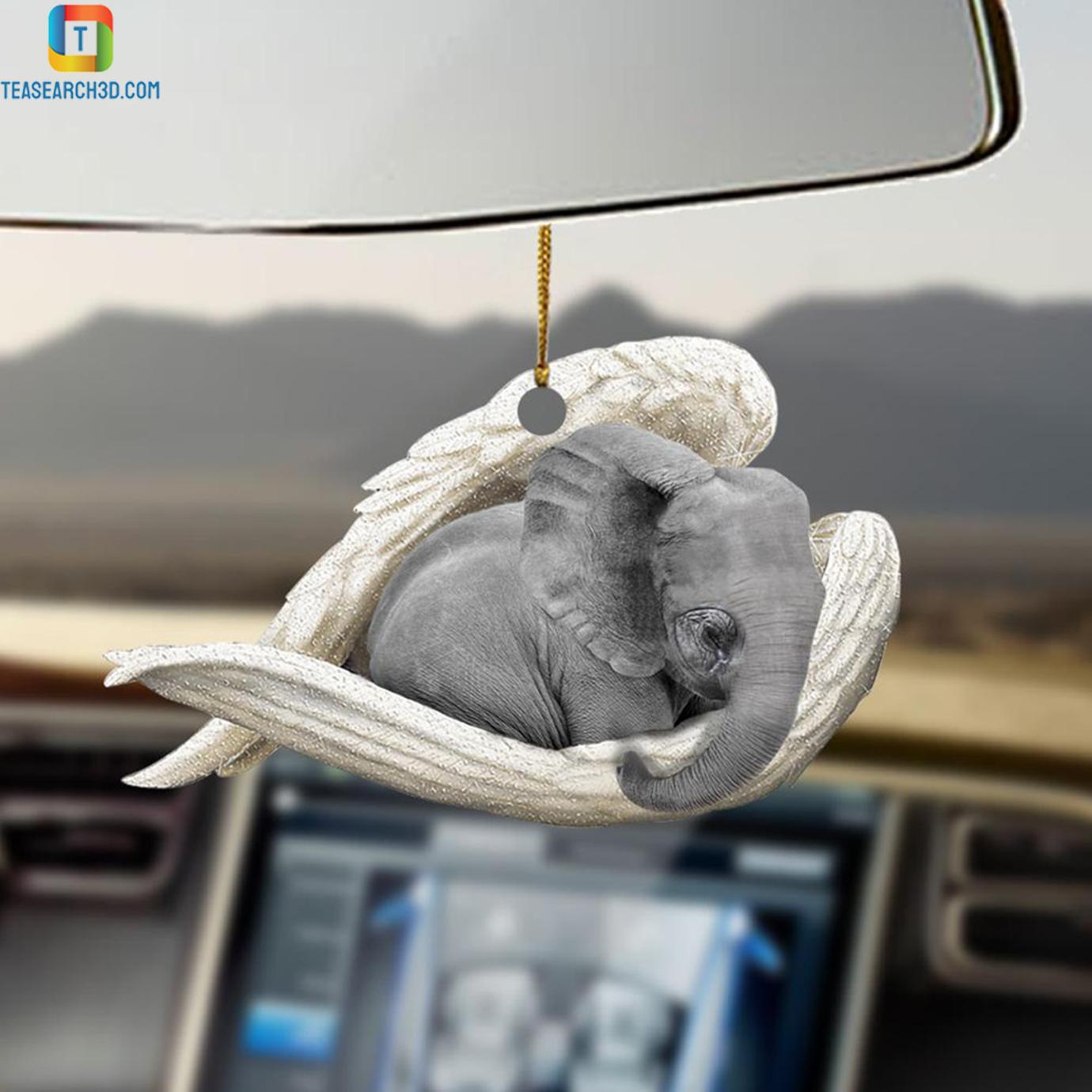Elephant sleeping angel car hanging ornament 2