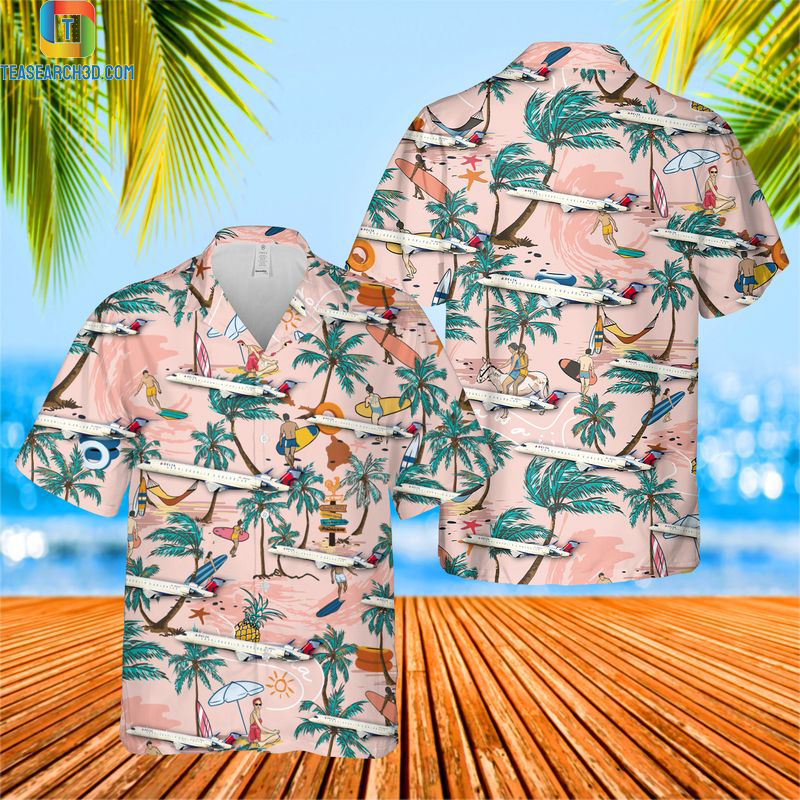 Endeavor air crj-200 hawaiian shirt