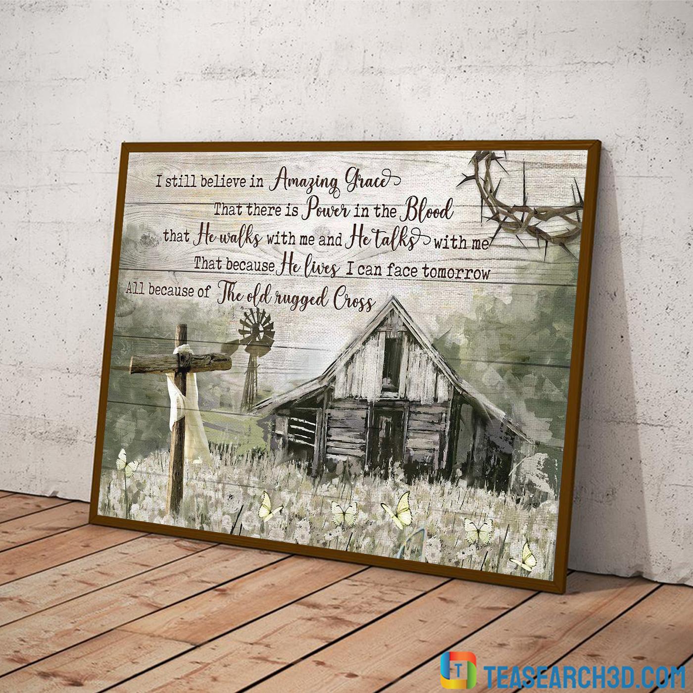 Farmhouse I still believe in amazing grace jesus canvas prints large