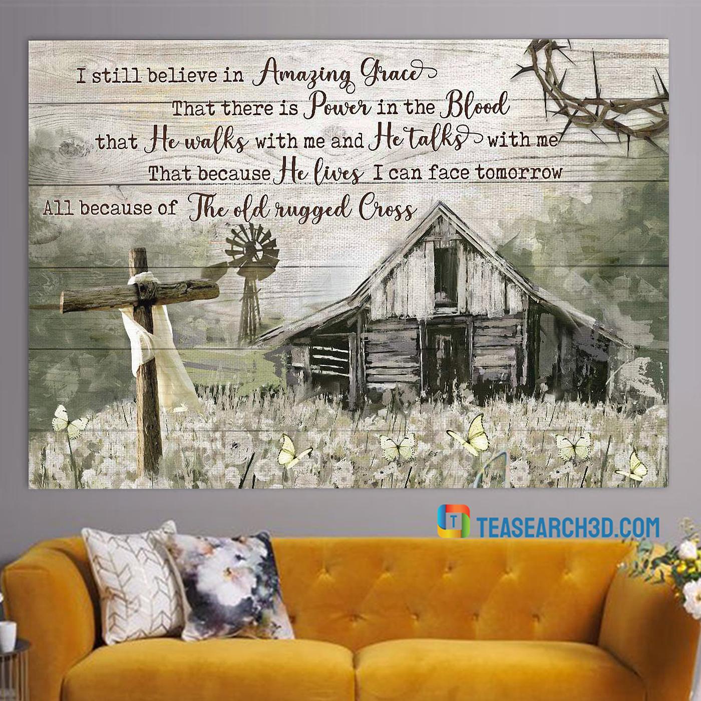 Farmhouse I still believe in amazing grace jesus canvas prints medium