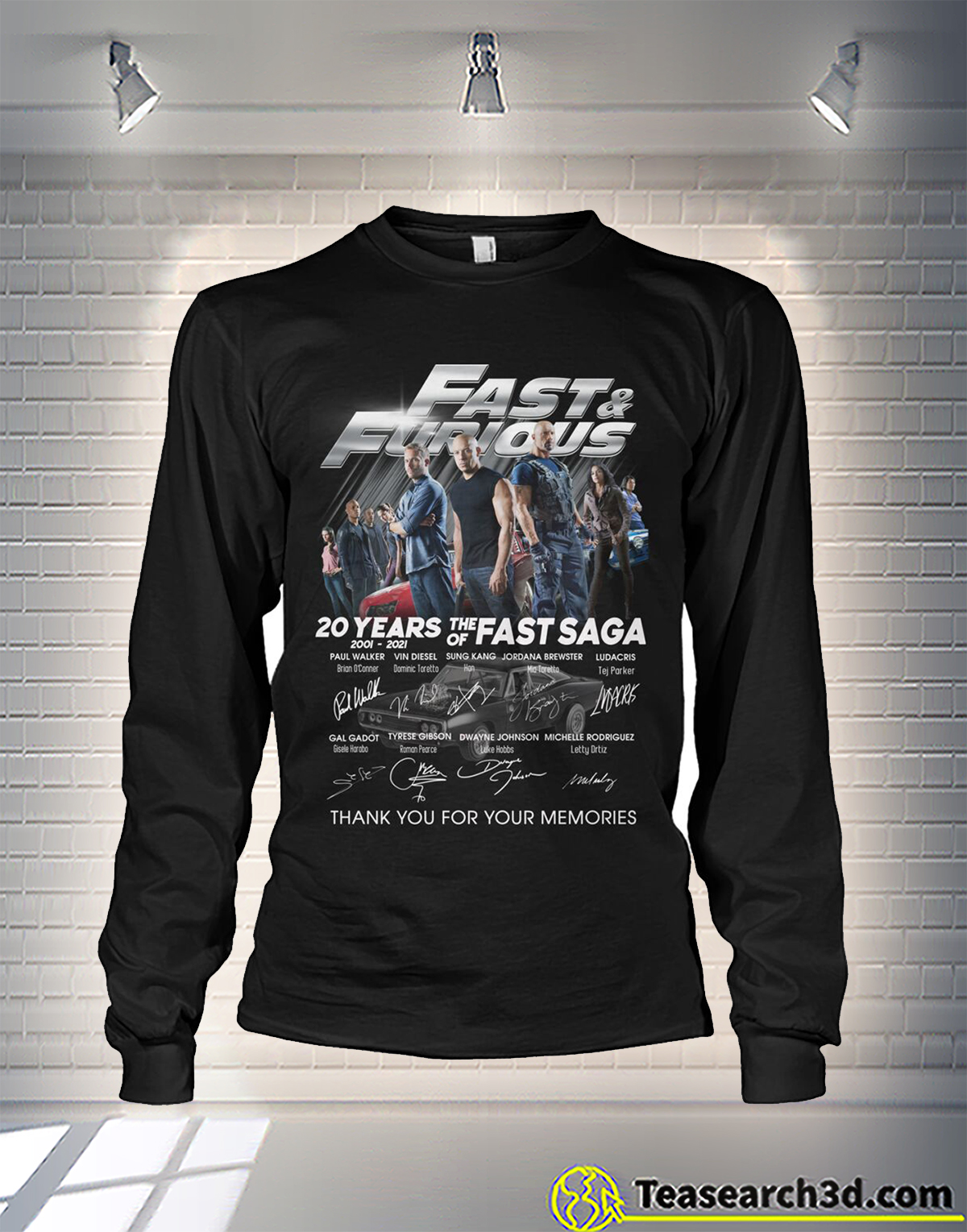 Fast and furious 20 years of the fast sage signature long sleeve