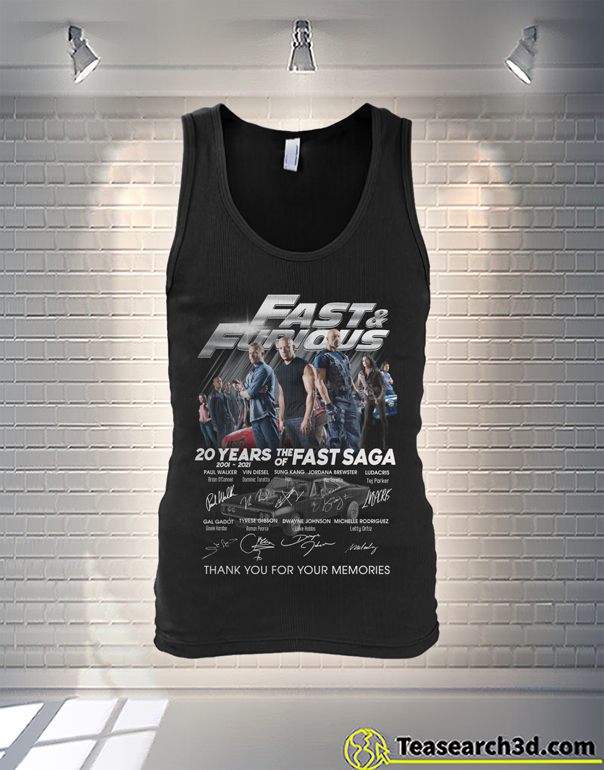 Fast and furious 20 years of the fast sage signature tank
