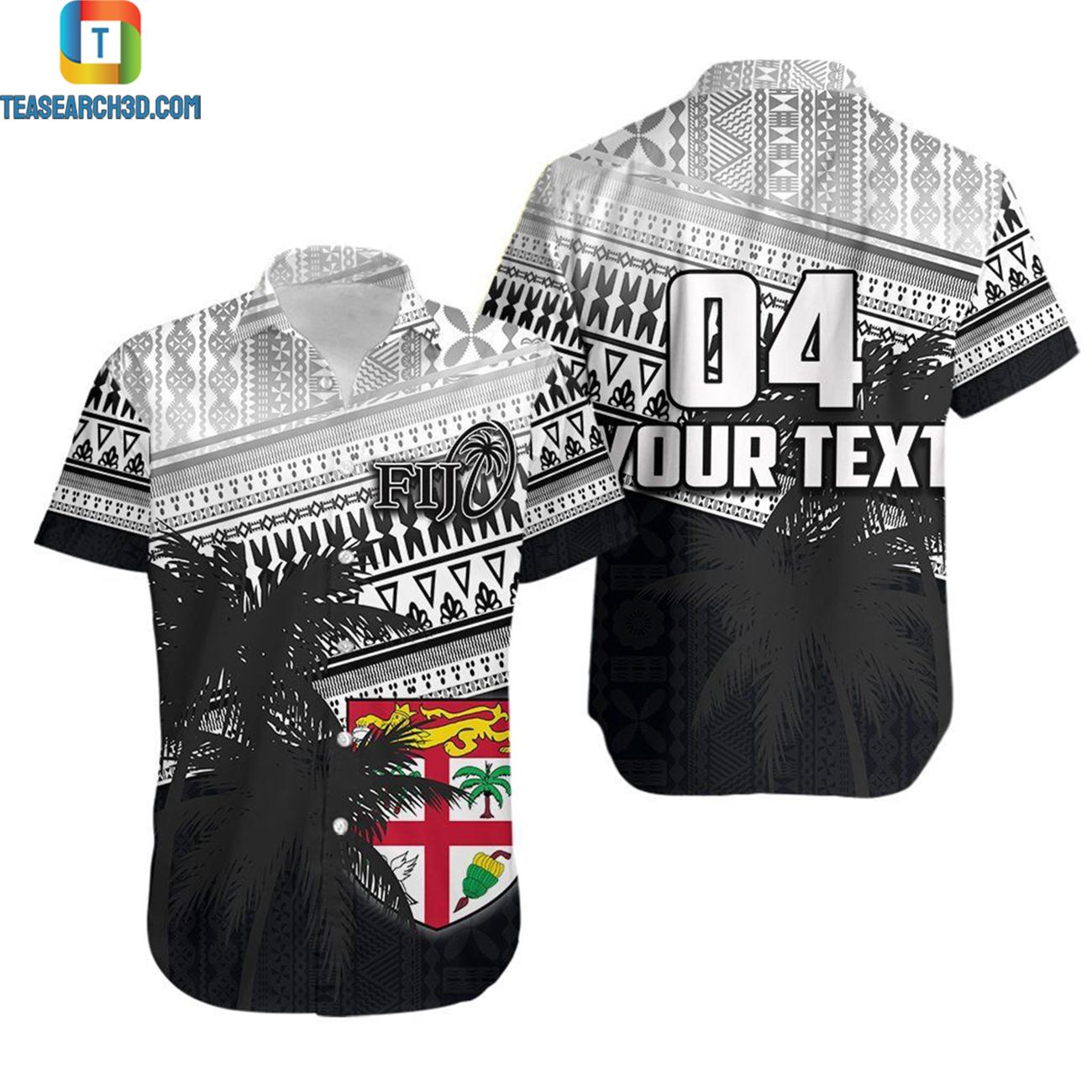 Fiji rugby makare and tapa patterns personalized hawaiian shirt 2