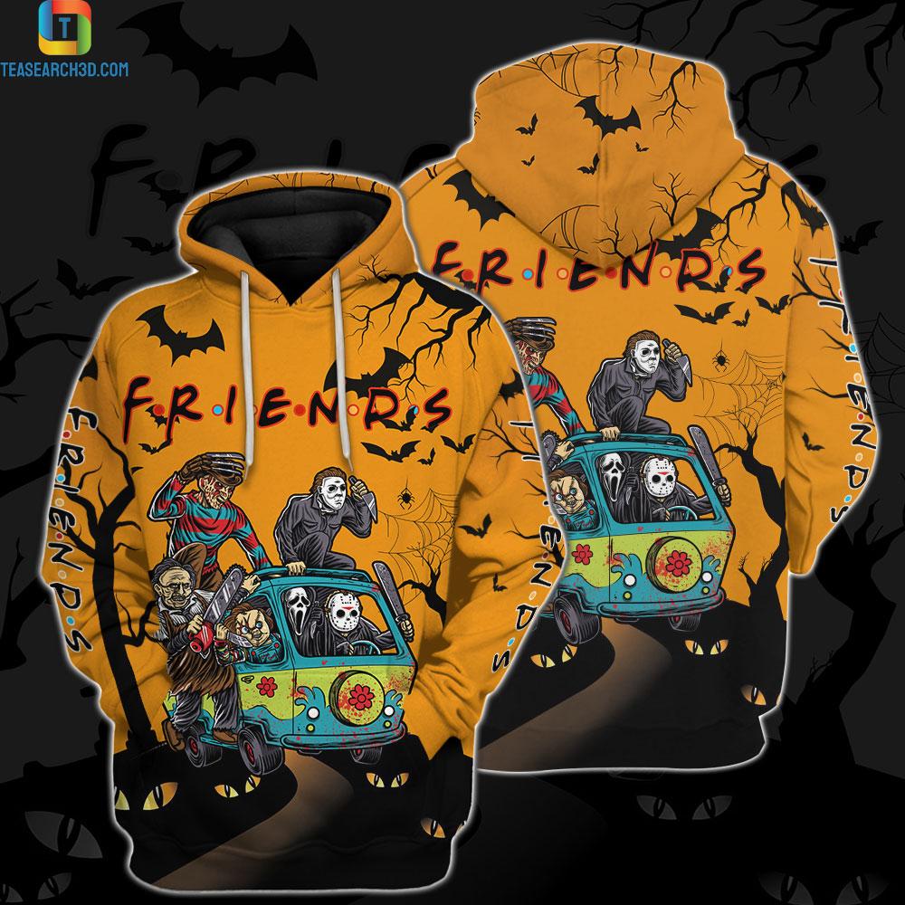 Friend horror halloween 3D all over printed hoodie