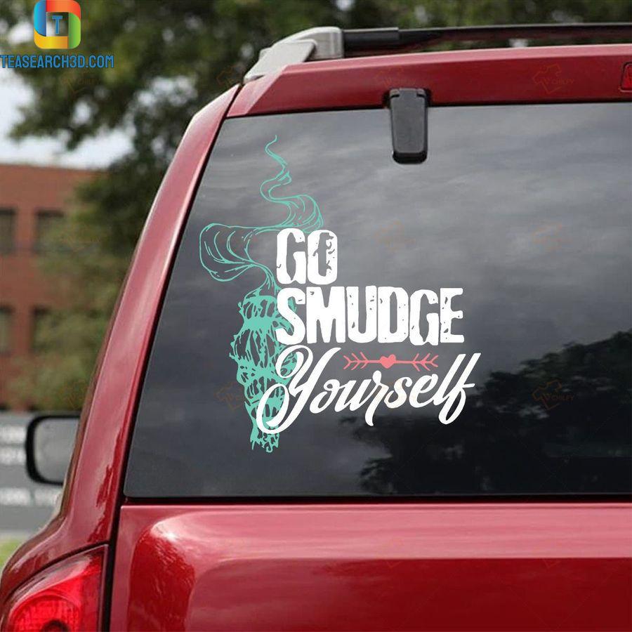 Go smudge yourself car sticker