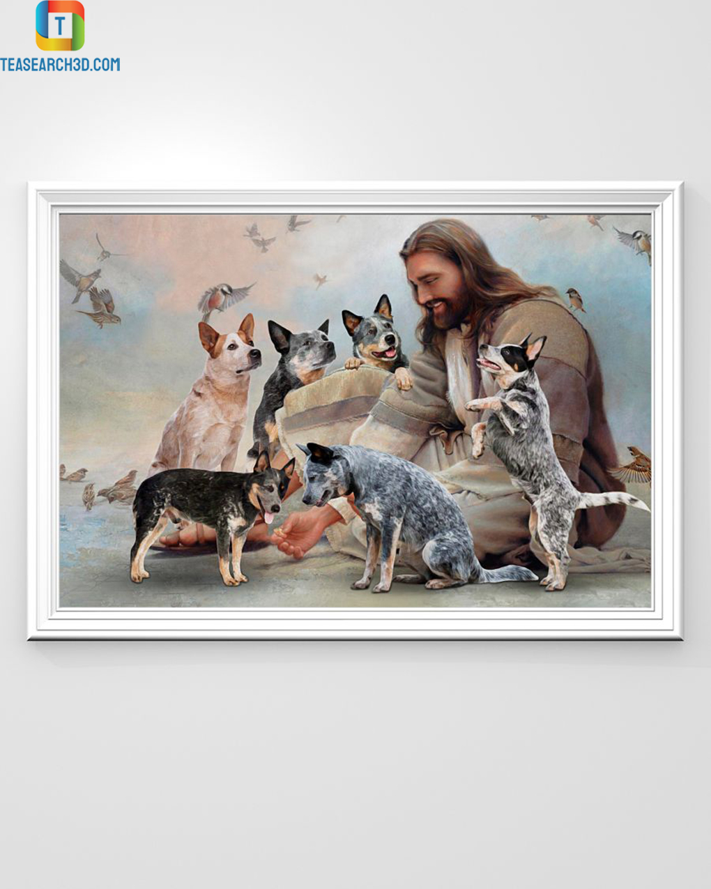 God surrounded by Heeler angels poster A3