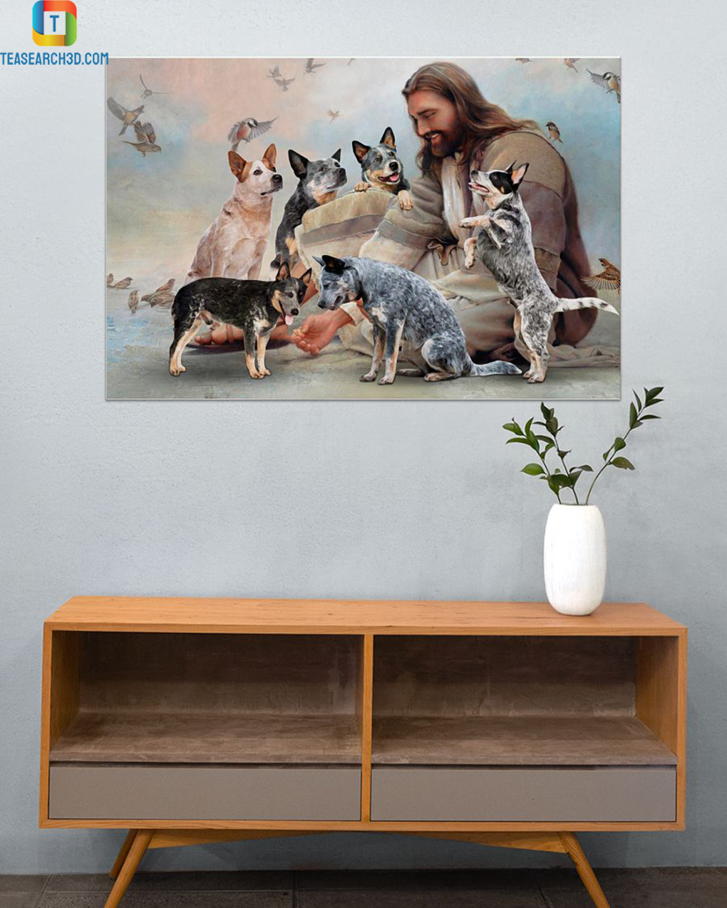 God surrounded by Heeler angels poster
