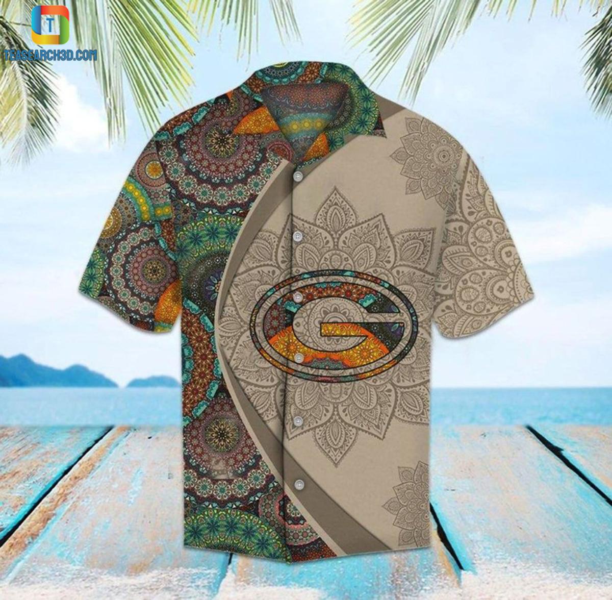 Green bay packers mandala nfl football hawaiian shirt 2