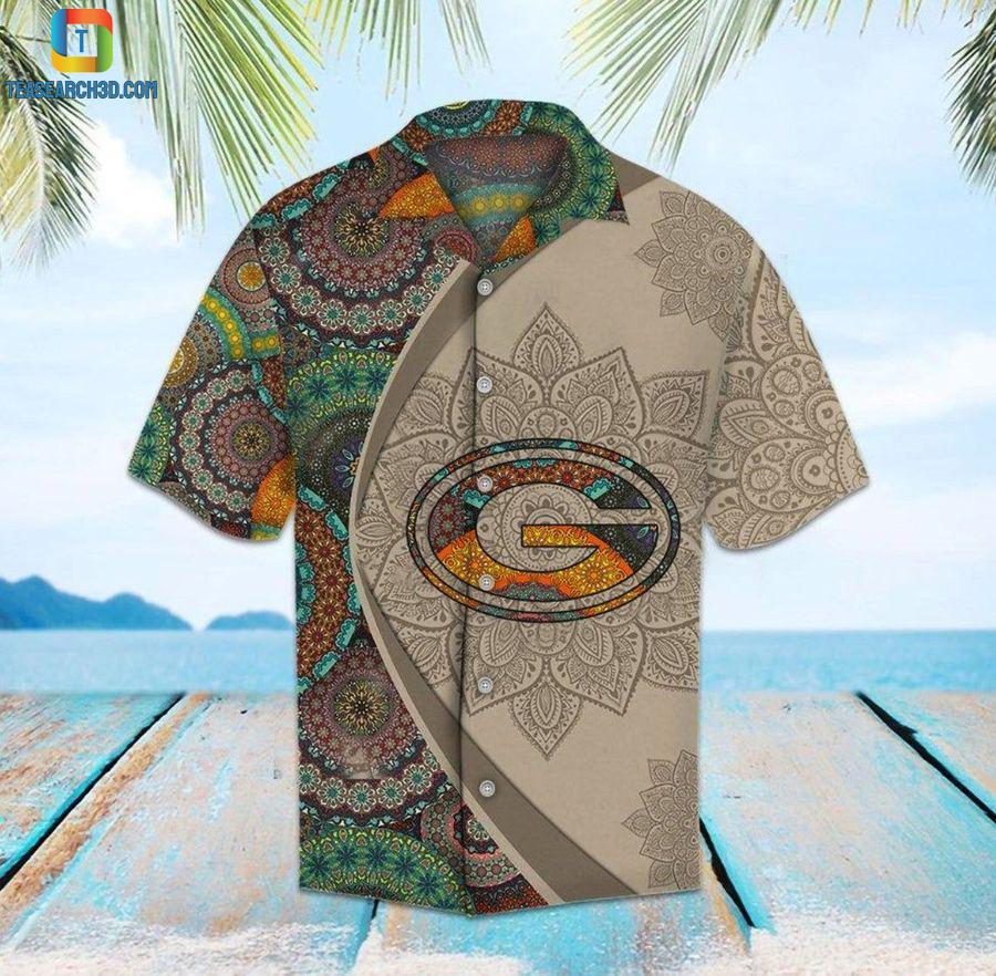 Green bay packers mandala nfl football hawaiian shirt