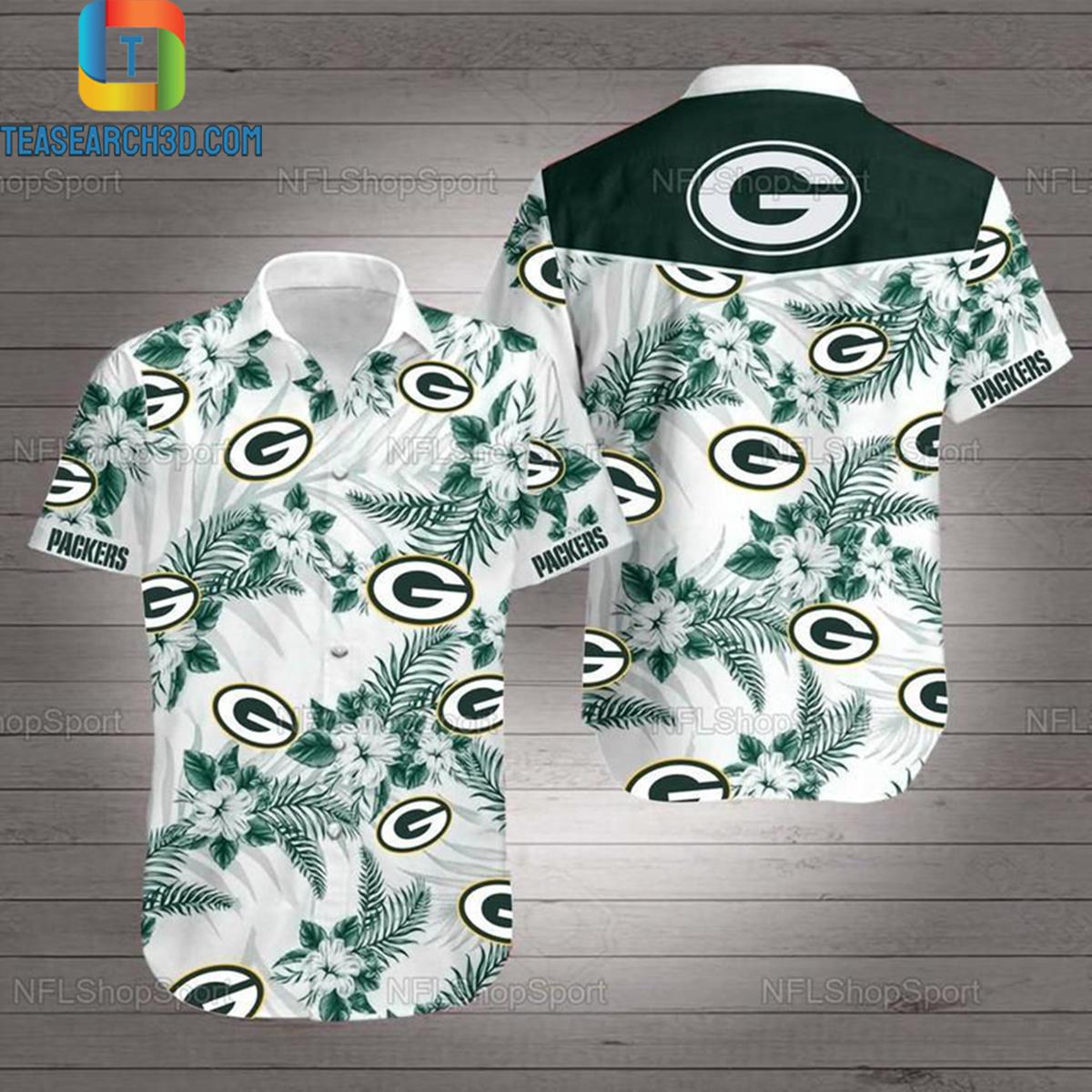 Green bay packers nfl football hawaiian shirt 2