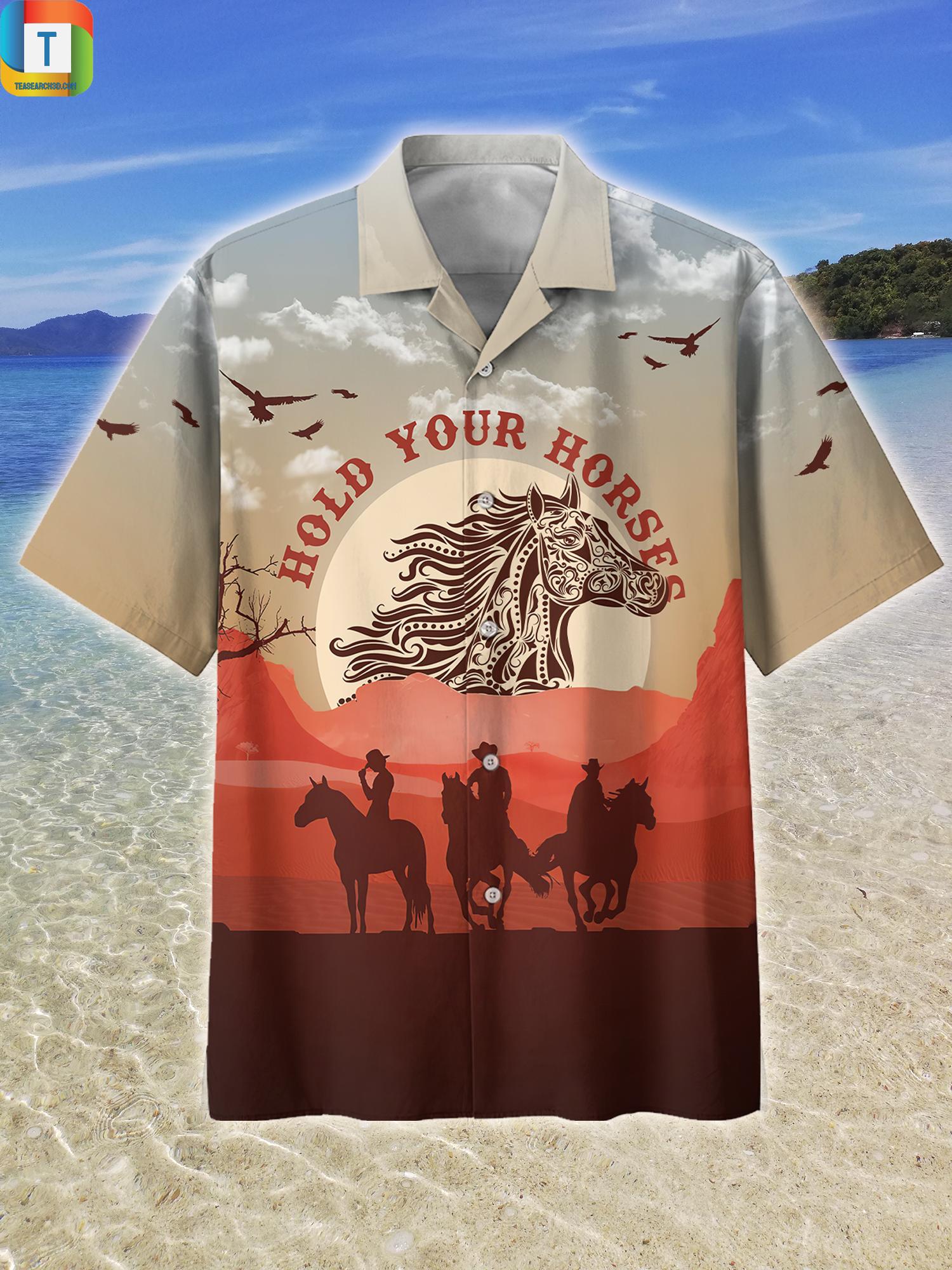 Hold Your Horses Hawaiian Shirt Beach Short