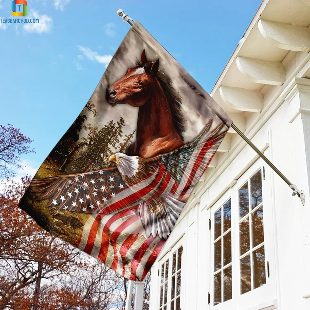 Horse eagle american patriot flag
