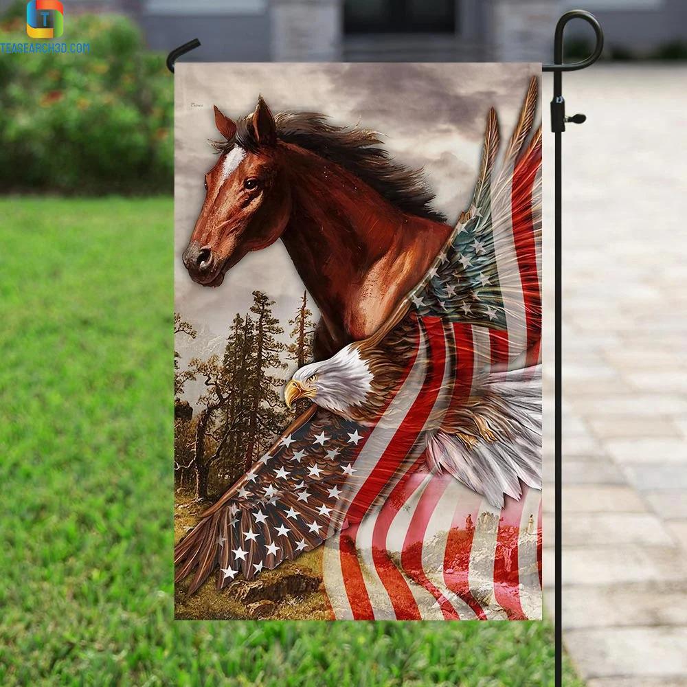 Horse eagle american patriot flag 2