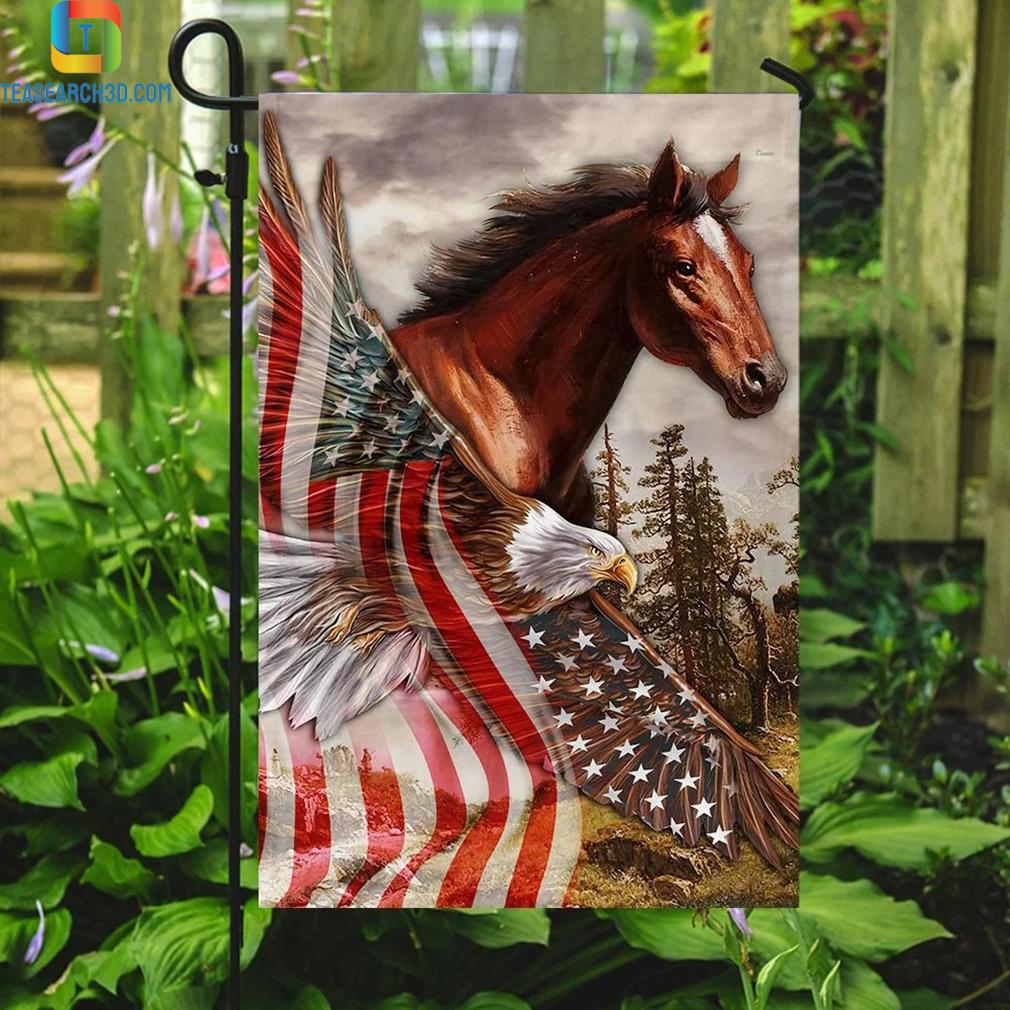 Horse eagle american patriot flag 3