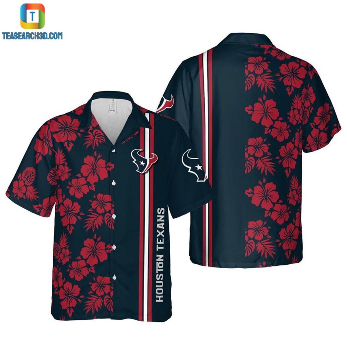 Houston texans floral nfl football hawaiian shirt 2