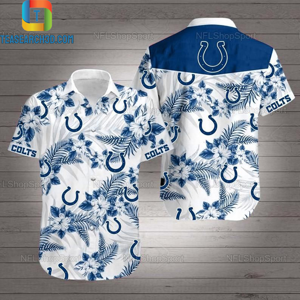 Indianapolis colts nfl football hawaiian shirt 1