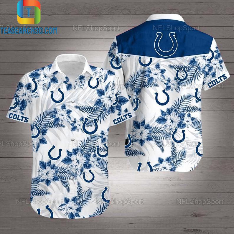 Indianapolis colts nfl football hawaiian shirt