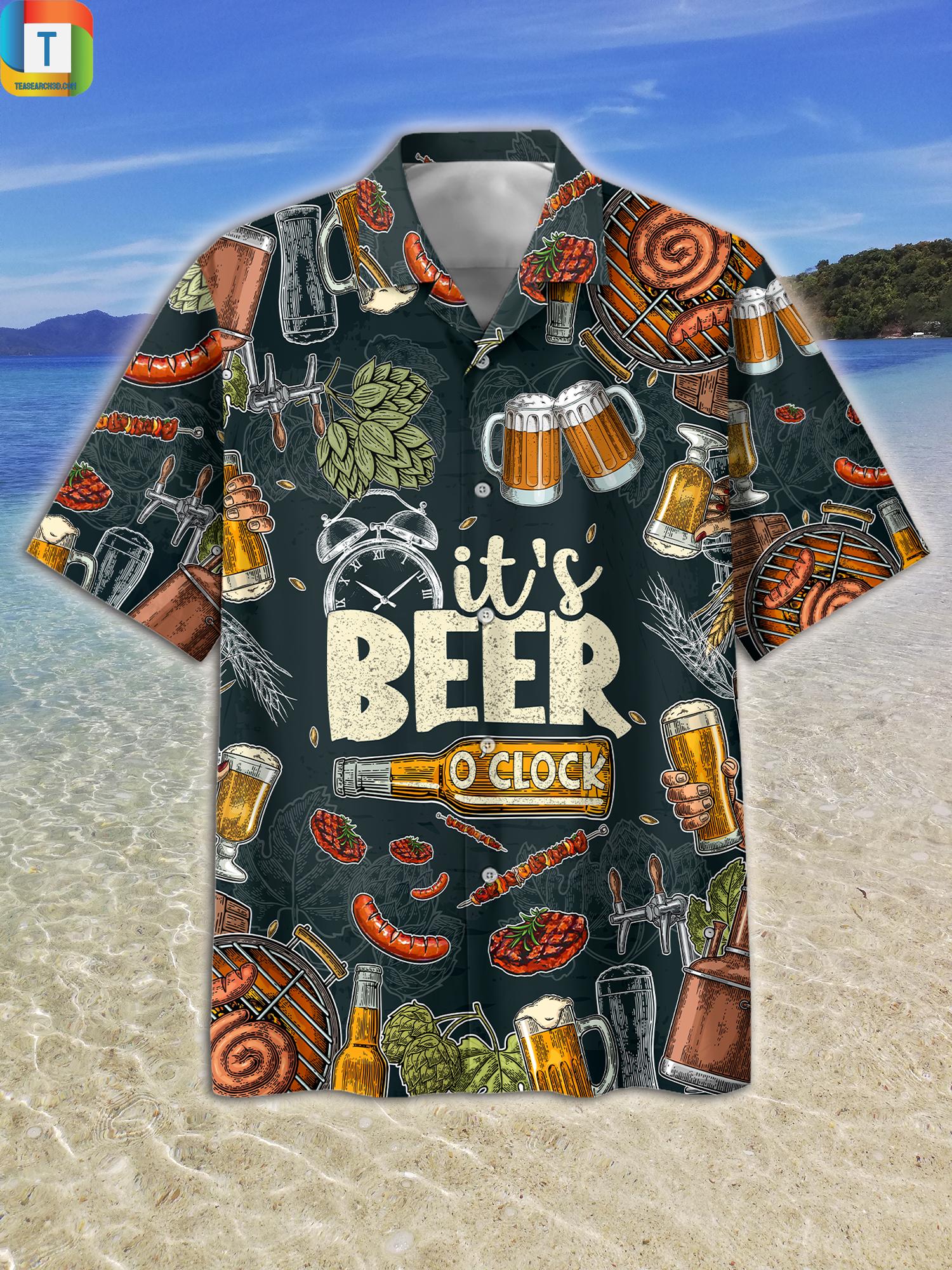 It's Beer O'clock Hawaiian Shirt