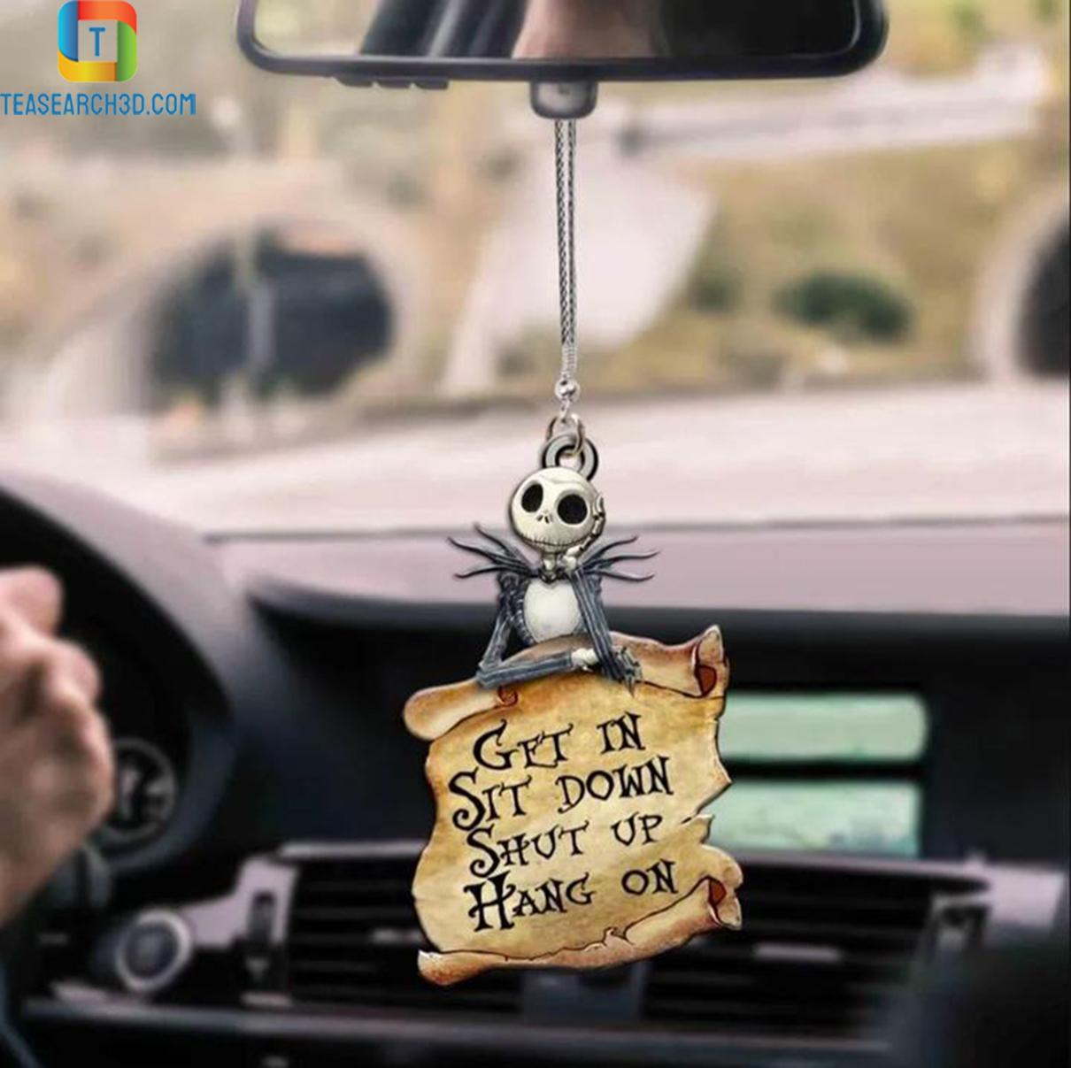 Jack skellington get in sit down shut up hang on car hanging ornament 2
