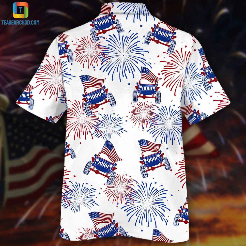 Jeeps firework american flag firework hawaiian shirt 1