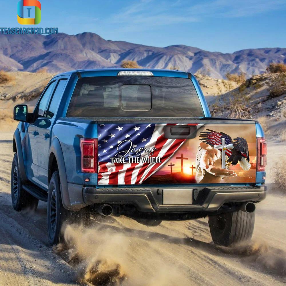 Jesus Take The Wheel Truck Tailgate Decal Sticker 1