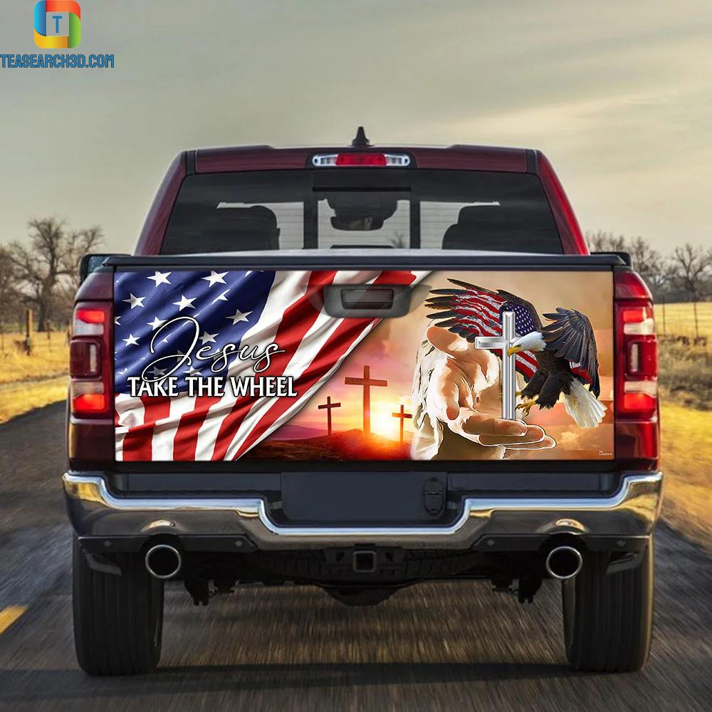 Jesus Take The Wheel Truck Tailgate Decal Sticker