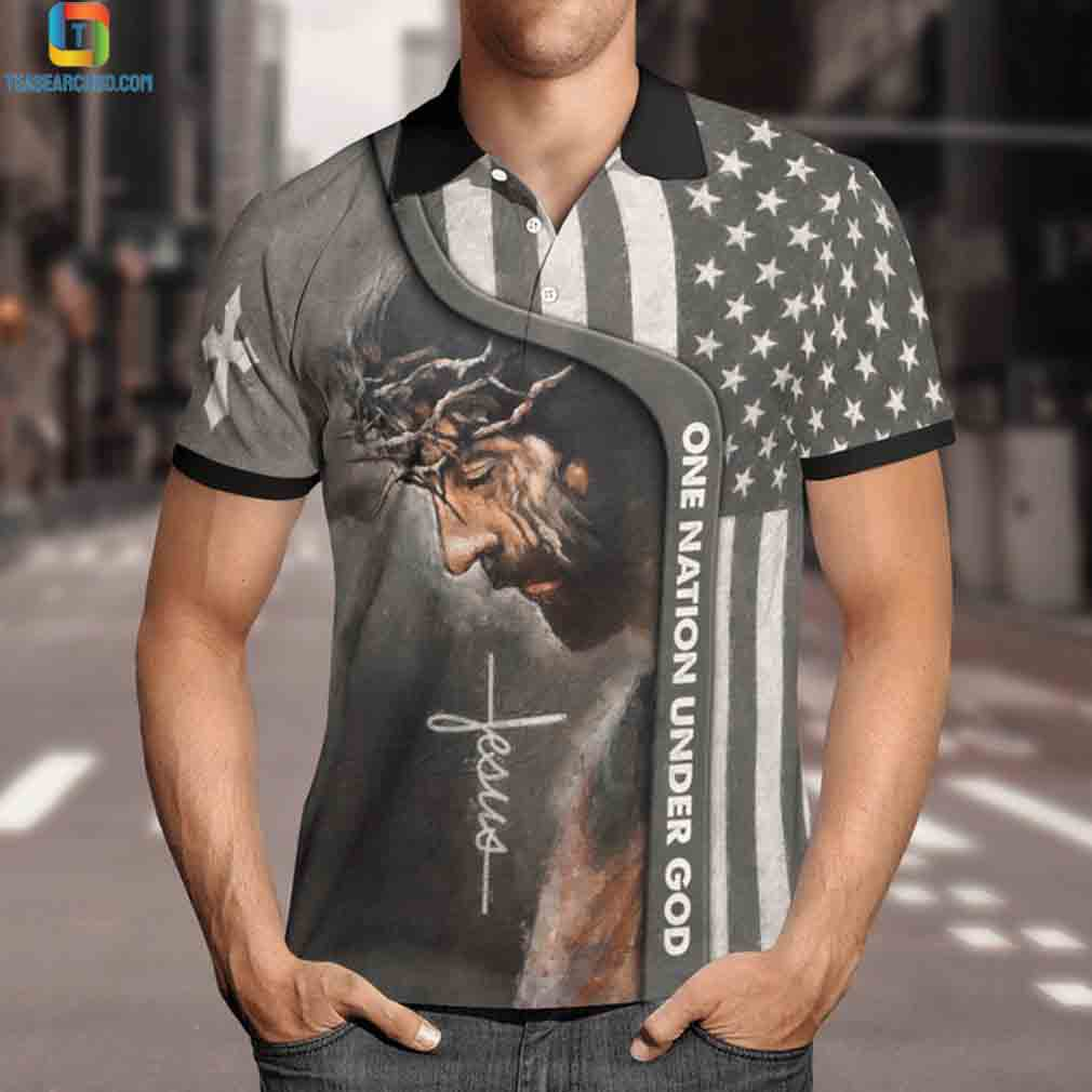 Jesus one nation under god polo t-shirt 1