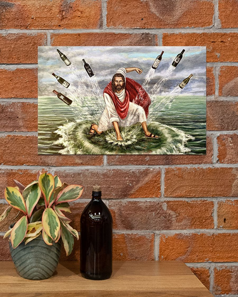 Jesus turns water into wine poster A1