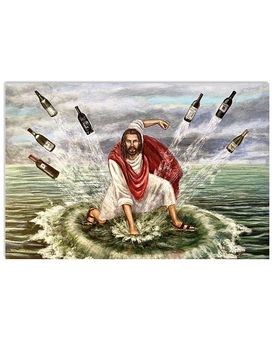 Jesus turns water into wine poster A3