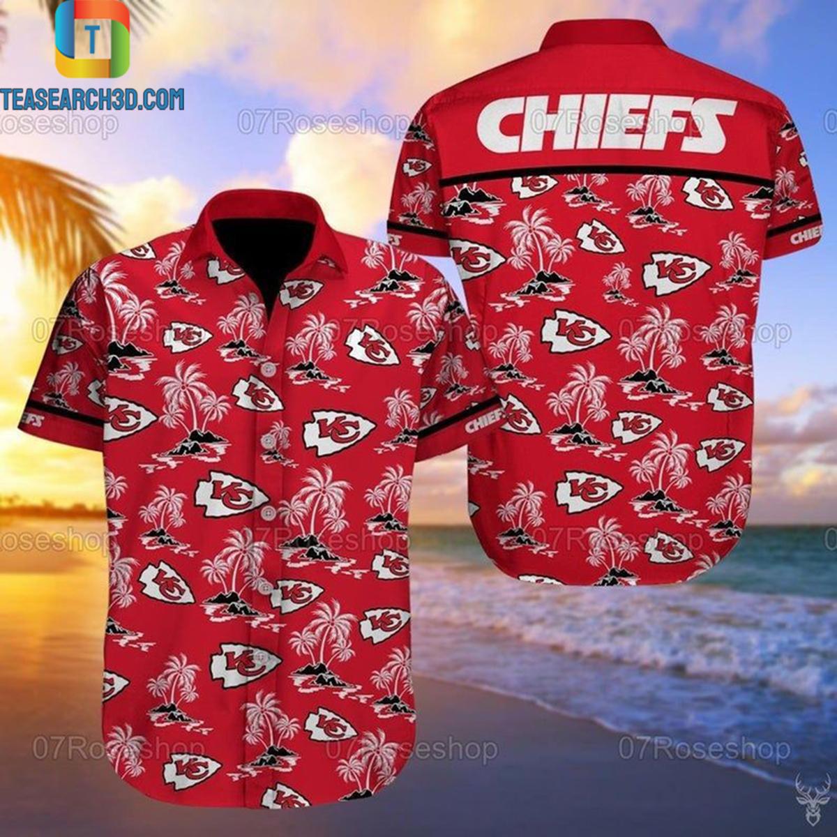 Kansas city chiefs nfl football hawaiian shirt 2
