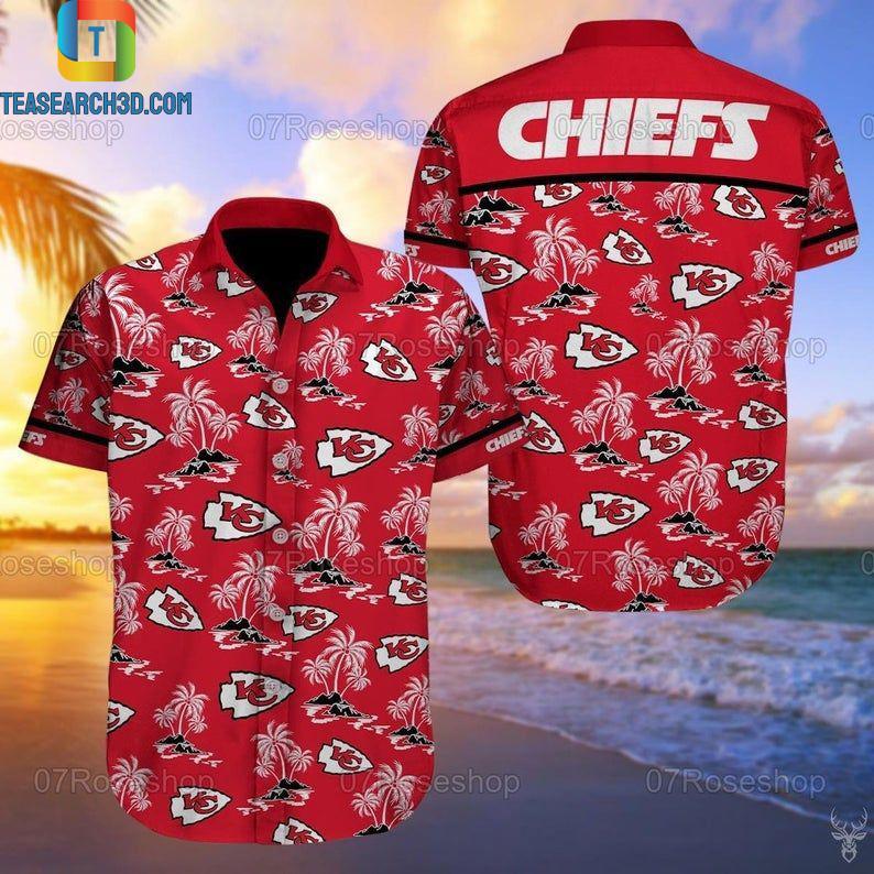 Kansas city chiefs nfl football hawaiian shirt