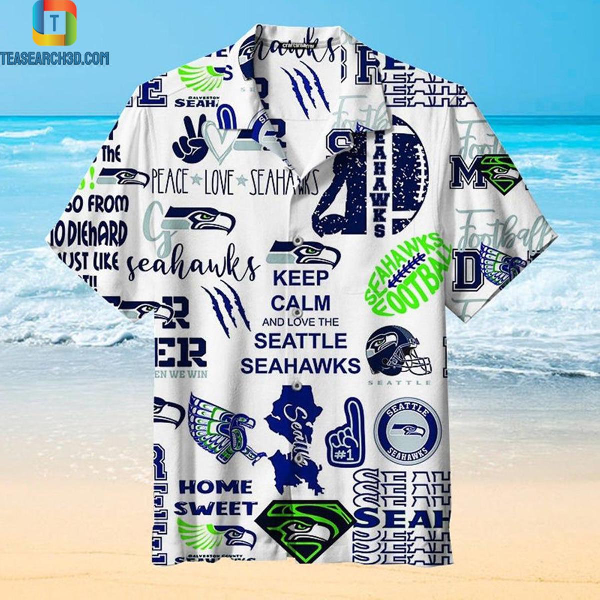 Keep calm and and love the Seattle Seahawks hawaiian shirt 2