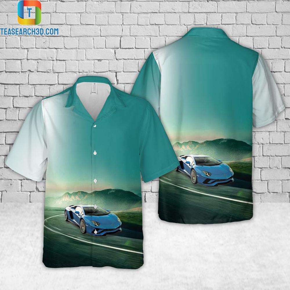 Lamborghini aventador hawaiian shirt 1