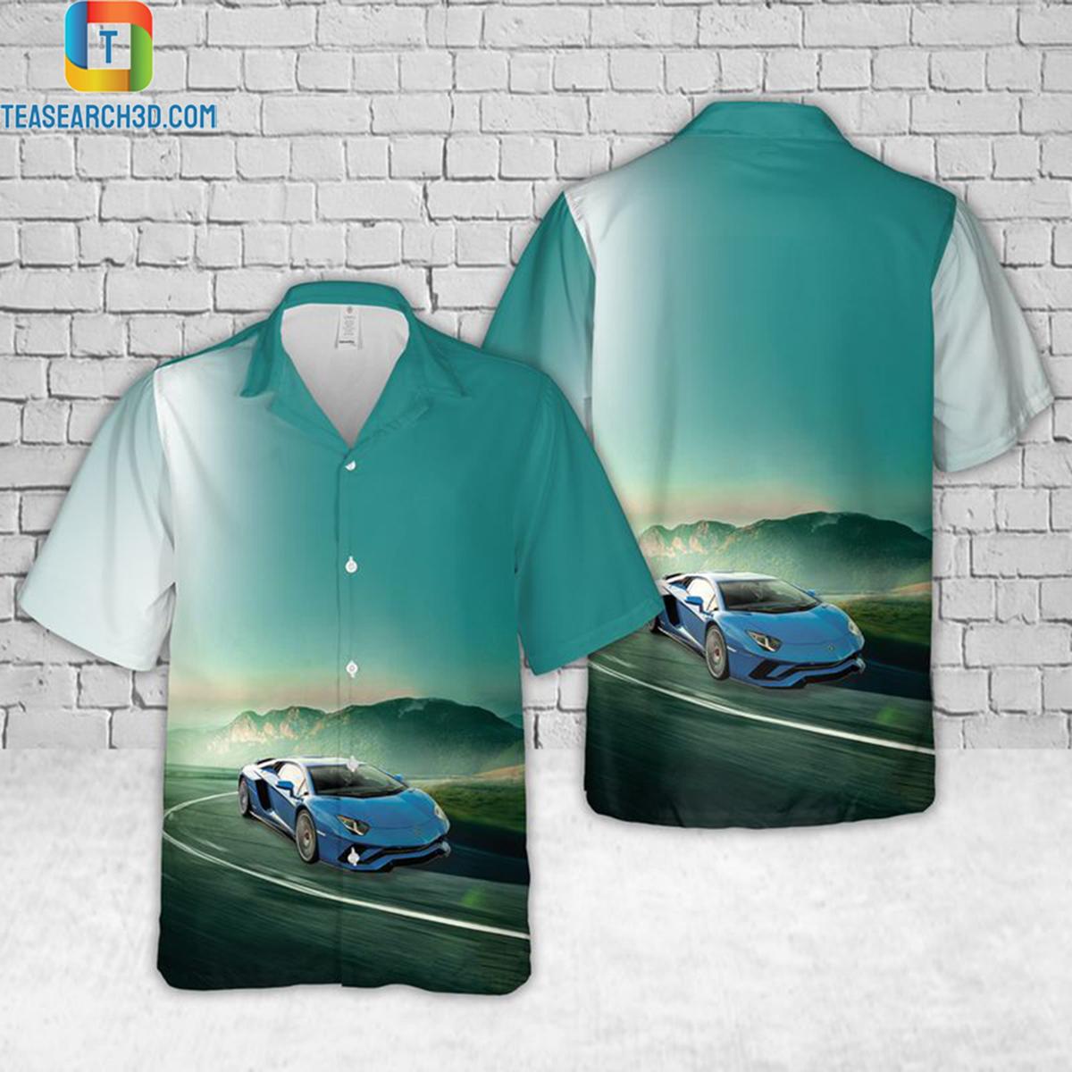 Lamborghini aventador hawaiian shirt 2