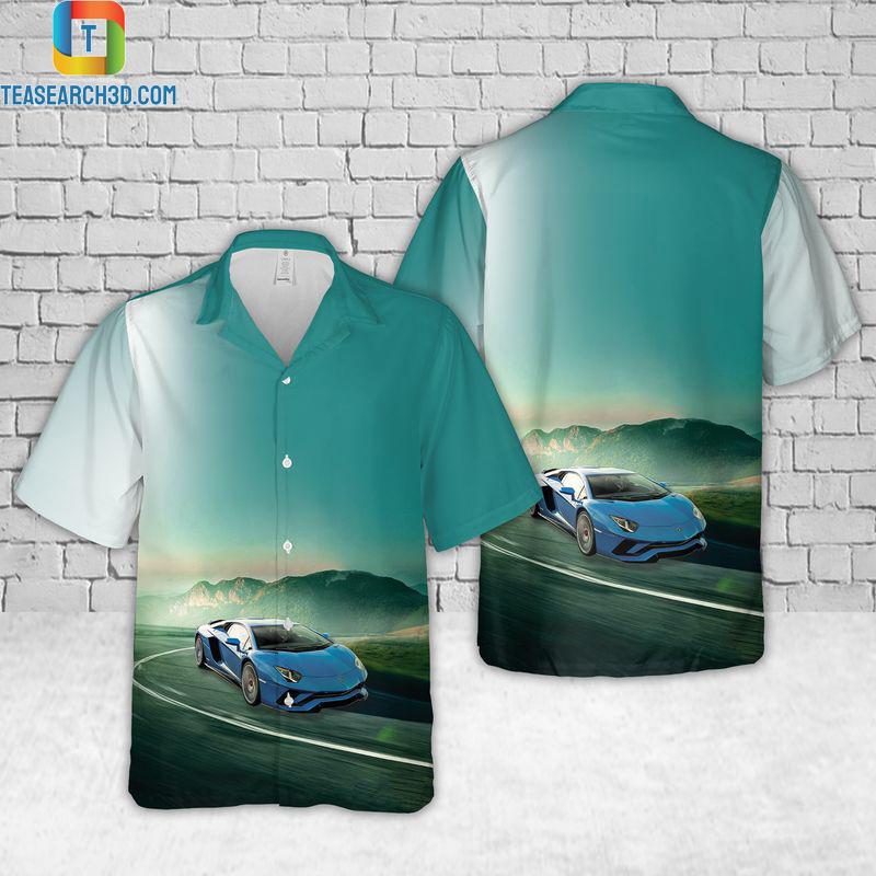 Lamborghini aventador hawaiian shirt