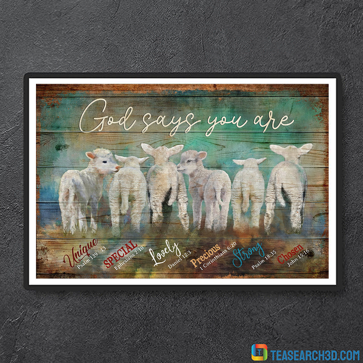 Lambs god says you are jesus canvas small