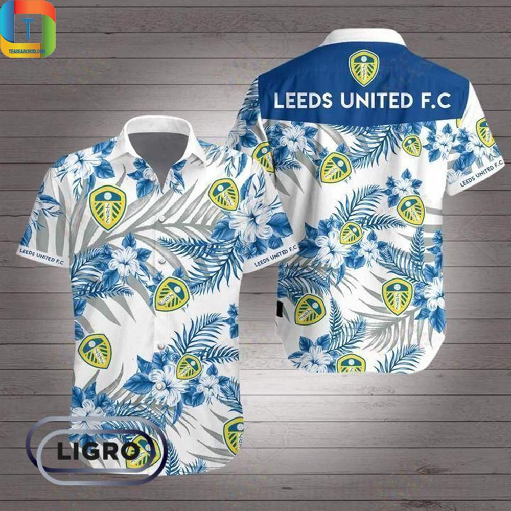 Leeds United Premier League Football Hawaiian Shirt