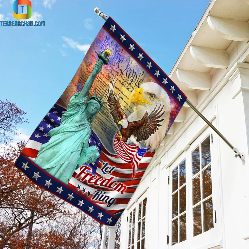 Let Freedom Ring Eagle American Flag 1